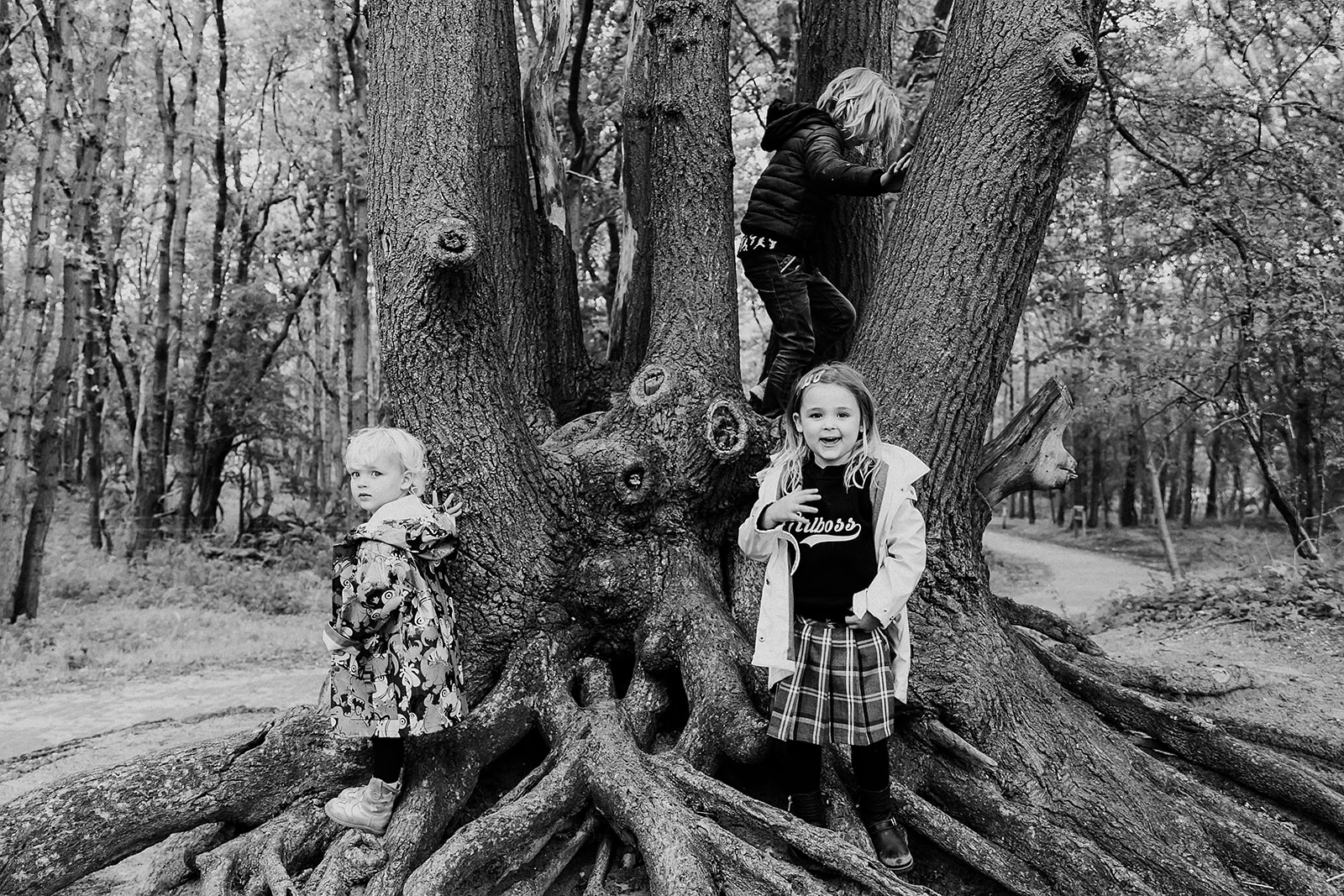 Met het gezin op de foto bij 't Wed in Bloemendaal